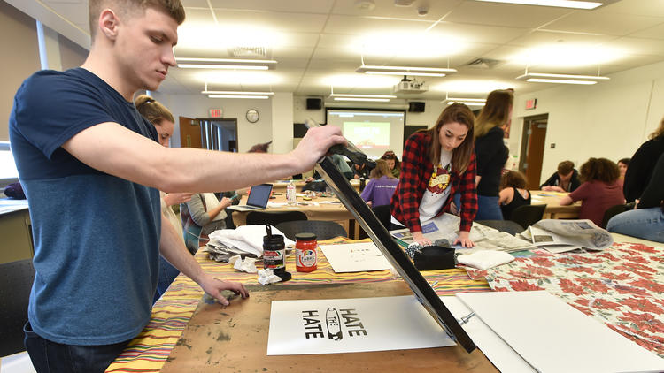 Kutztown students, community 'hate the hate' by making their own posters